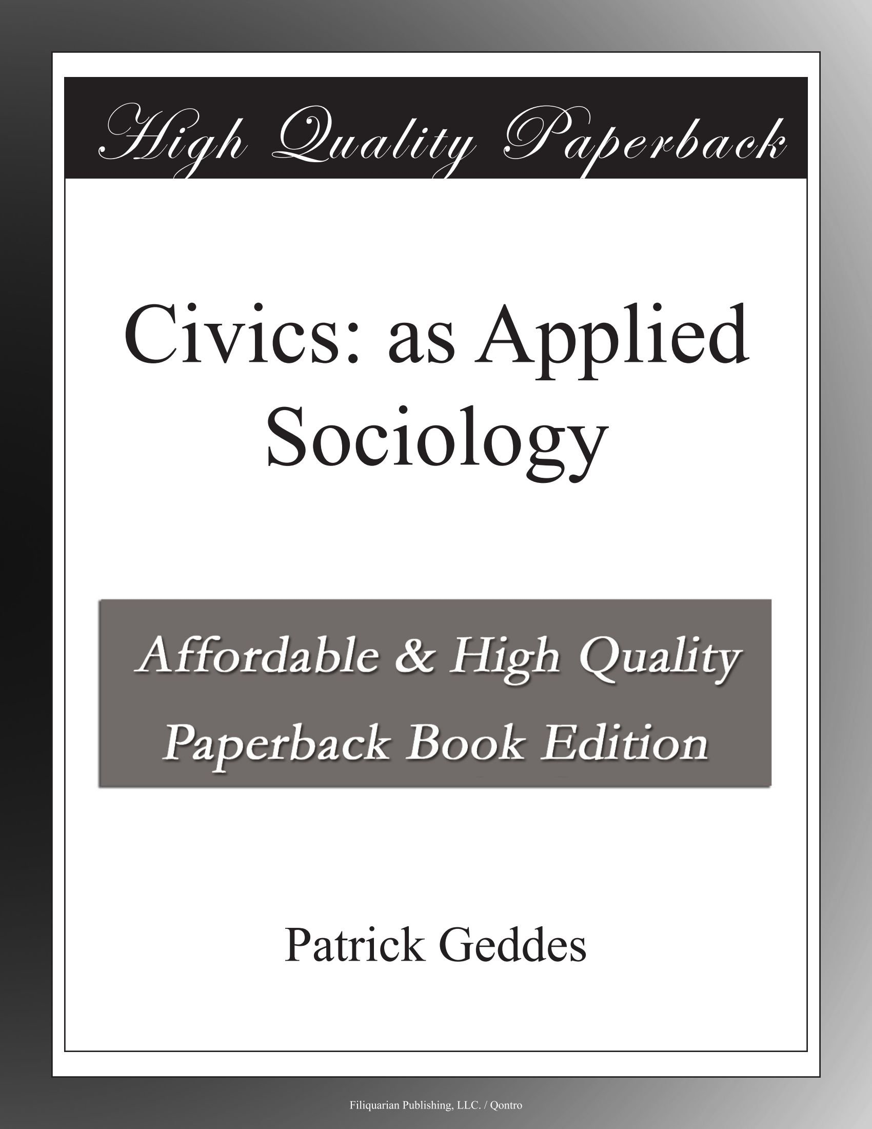 Civics: as Applied Sociology