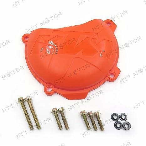 Naranja ABS ahorro de guardia de protección de tapa del embrague para KTM 250 EXC-