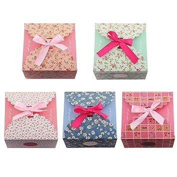 Amazon.com: Cajas de regalo, juego de 5 decorativas cajas de ...