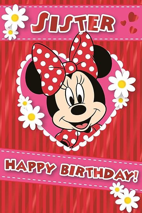 Tarjeta de cumpleaños Minnie Mouse - Sor: Amazon.es: Hogar