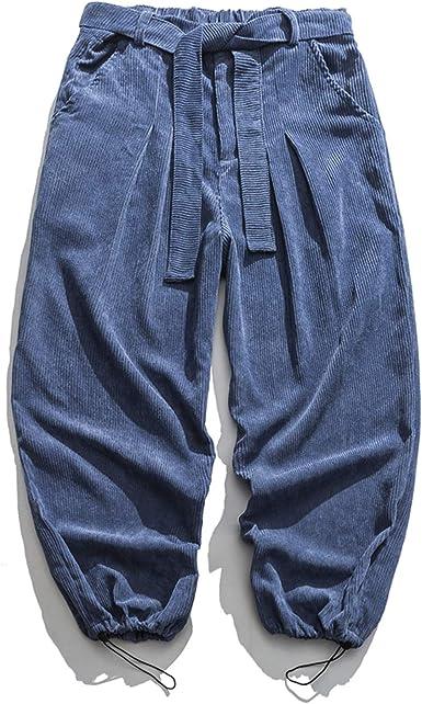 Ustzftbcl Pantalones Casuales De Pana Estilo Chino Bombachos Holgados Pantalones Harajuku Ropa De Hombre Pantalones Sueltos Para Hombre Amazon Es Ropa Y Accesorios