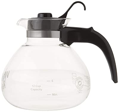 Cafe Brew Collection WK112 Cafe Brew Glass Stovetop Whistling Kettle