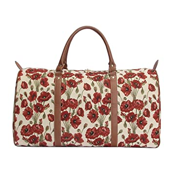Signare sac de voyage weekend en toile tapisserie mode femme coquelicot mK4W9H