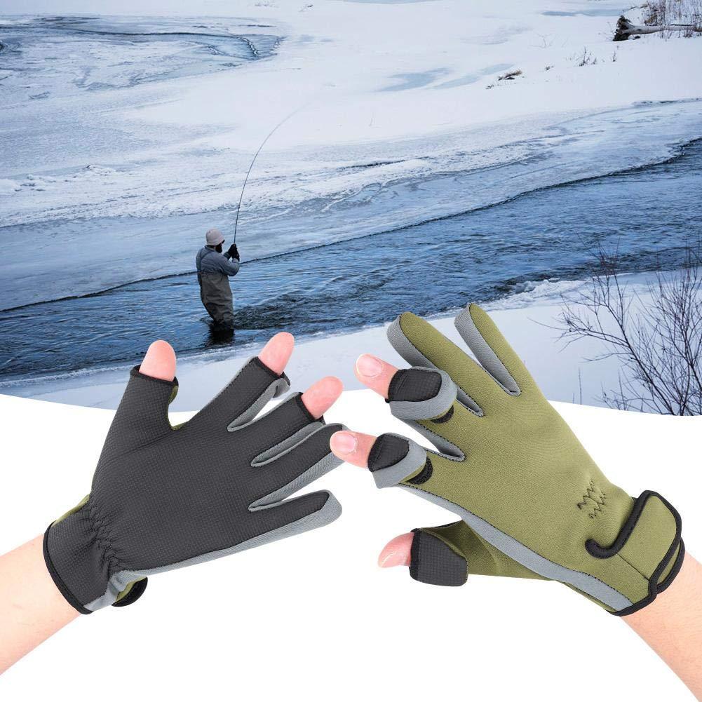 Guantes T/érmicos Dedo Completo con Almohadilla De Silicona Engrosada para Esquiar En La Pesca En Hielo