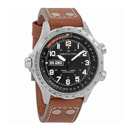 Reloj Hamilton Khaki Aviation X-Wind Day Date H77755533 Automático: Amazon.es: Relojes