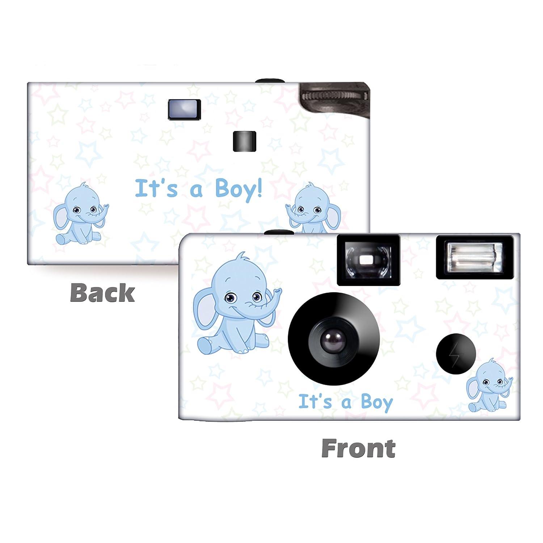 5 Pack Elephant inブルー使い捨てカメラ、ベビーシャワーカメラ、誕生日カメラからcustomcameracollection wm-51092-c   B06XWGGLGT