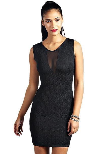 ZARINA®Vestido Plisado de Mujer / Vestido de Novia modelo 21021 color negro (UNICO