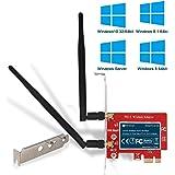FebSmart Wireless AC 1200Mbps Dual Band PCI Express (PCIe) Wi-Fi Adapter Wi-Fi Card for Windows 10 (32/64bit) Windows 8…