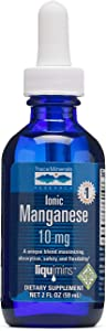 Trace Minerals Liquid Ionic Manganese 10 mg Supplement, 2 Ounce