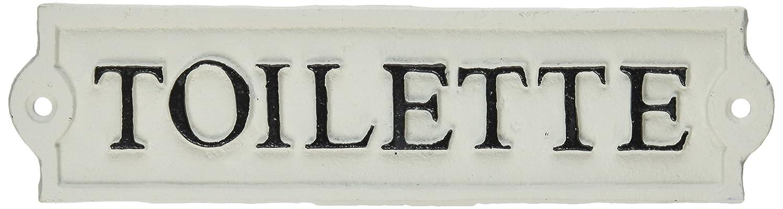 "Abbott Collection ""Toilette"" Sign, 8 1/4"" - Antique White/Beige"