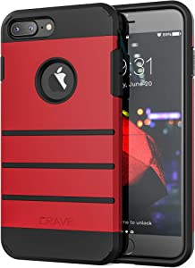 Crave iPhone 8 Plus Case, iPhone 7 Plus Case, Strong Guard Protection Series Case for Apple iPhone 8/7 Plus (5.5 Inch) - Red