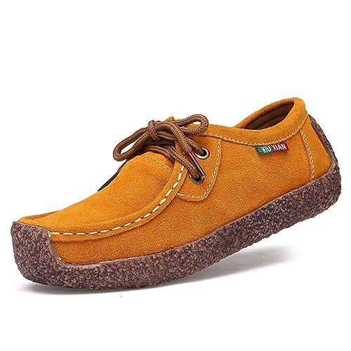 Oriskey Mocasines Pisos de Gamuza Mujer Loafers Casual Zapatos Zapatillas: Amazon.es: Zapatos y complementos