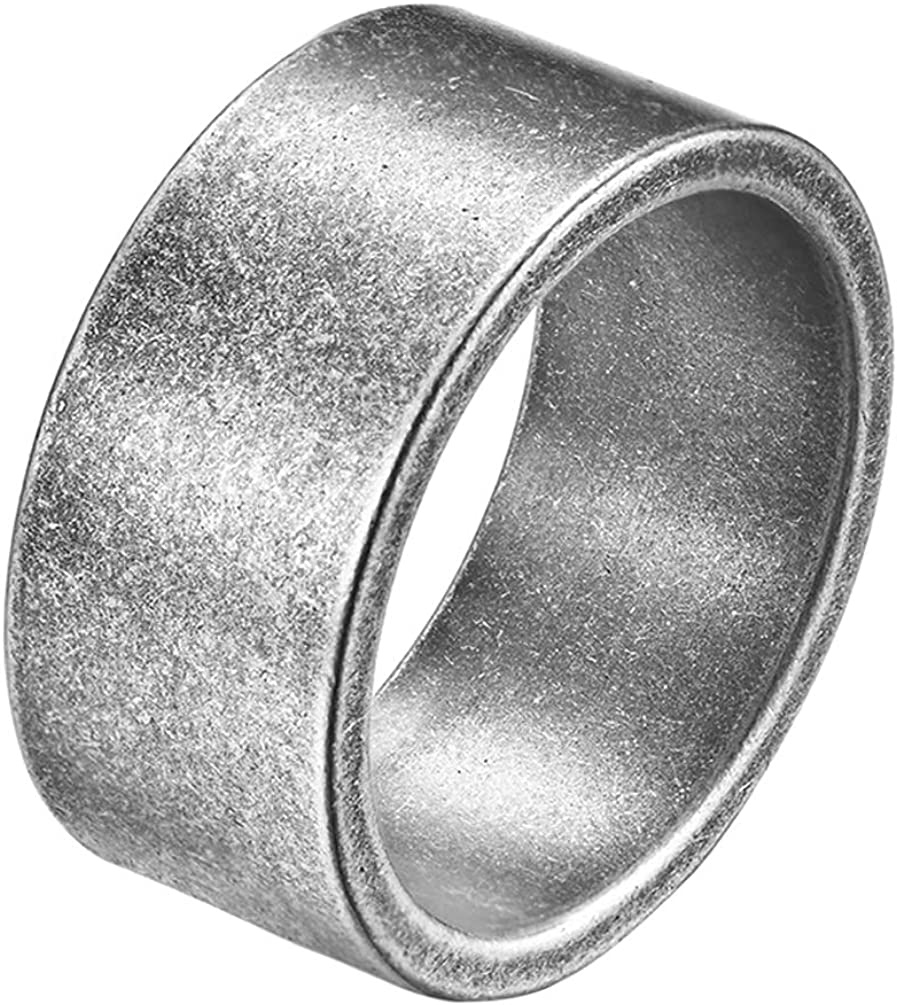 Gents Wedding Band Flat steel Wedding Band Silver wedding band Two tone Wedding band Steel silver band wide steel wedding ring,