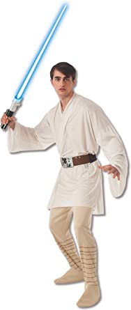 Star Wars The Empire Strikes Back Luke Skywalker Cosplay Men Halloween Costume: