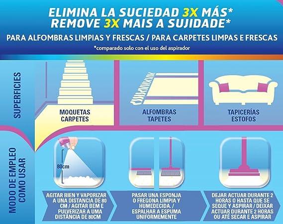Vanish Quitamanchas Espuma para Pretratante Alfombras y Tapicerías 600 ml: Amazon.es: Alimentación y bebidas