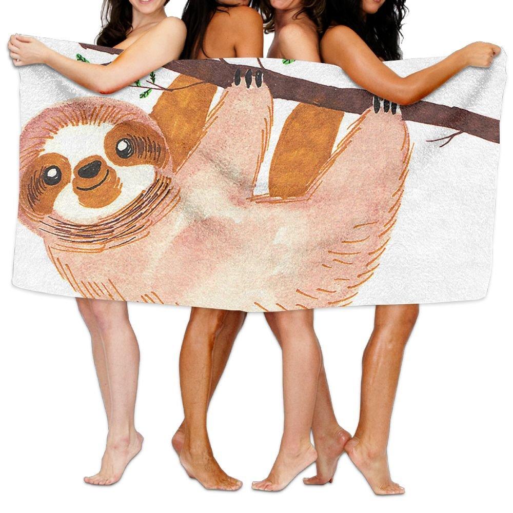 ユニセックスナマケモノビーチタオルWashclothsバスタオルfor Teen Girls大人旅行タオルプールとジム使用31 x 51インチ B07BFS3ZKZ