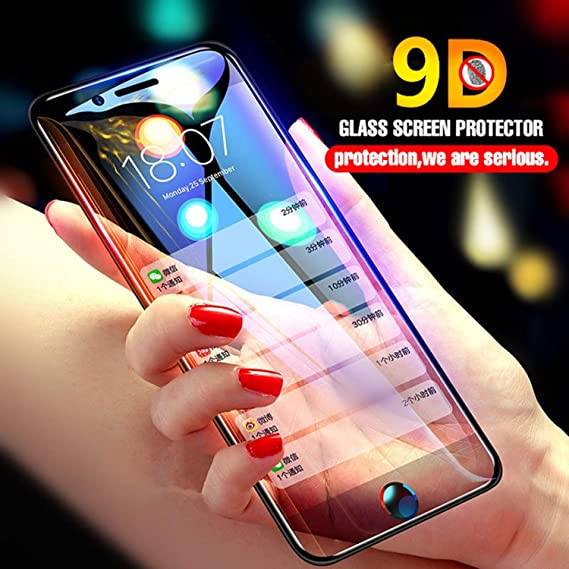 factory price c8535 f81e7 9D Full Cover Curved Edge Tempered Glass For iPhone X 7 8 6 6s Plus Screen  Protector For iPhone 8 6 7 Plus Protective Glass Film (Black, For iPhone ...