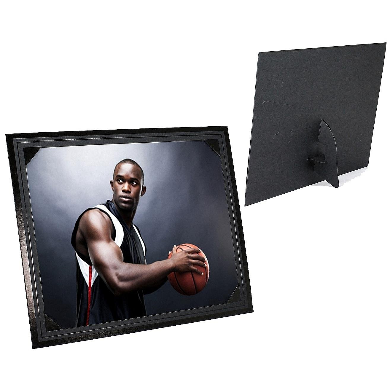 Smooth Finish Corner Mount Black Easel 8x10 Frame Sold in 25s - 8x10 SendAFrame PF1400-810