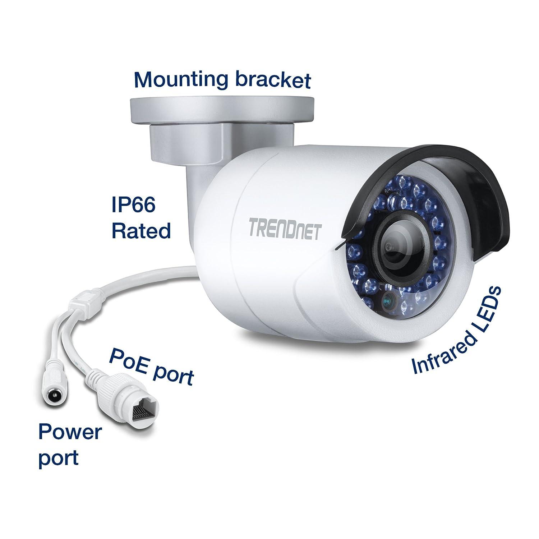 TRENDnet TV-IP320PI - Cámara de vigilancia HD de 1.3 Mp, gris: Trendnet: Amazon.es: Electrónica
