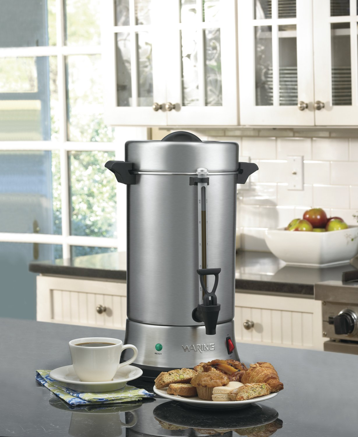 Waring Commercial WCU550 55-Cup Commercial Heavy Duty Stainless Steel Coffee Urn, Silver by Waring (Image #3)