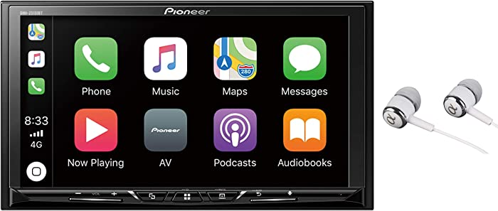 """Pioneer 7"""" WVGA Display, Apple CarPlay, Android Auto, Built-in Bluetooth, AppRadio Mode, Pandora, Spotify, MIXTRAX, USB/AUX Digital Multimedia Video Receiver"""