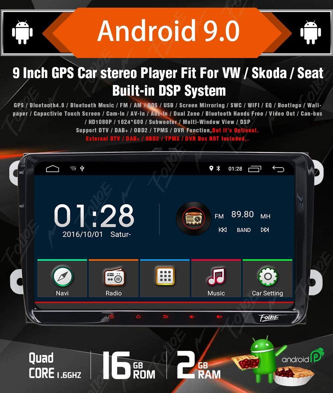 "Autoradio BIG SCREEN 9/"" Android 8.1 SEAT LEON ALTEA TOLEDO SKODA OCTAVIA II III"