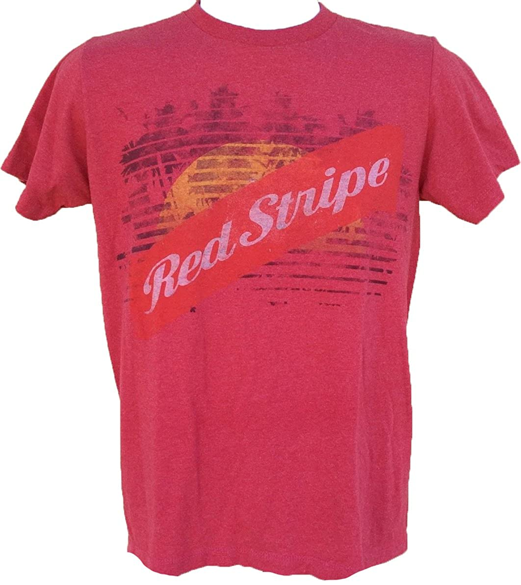 26a9ec544e Amazon.com: Red Stripe Distressed Logo Men's T Shirt (Small): Clothing