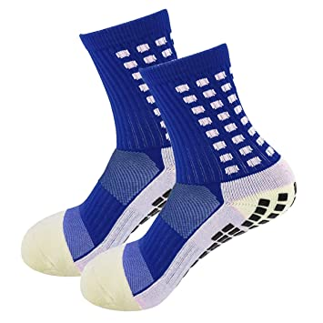 bbc765084 MultiWare Trusox Tocksox Style Anti Slip Cotton Football Socks Men  Calcetines Sport Sock Blue