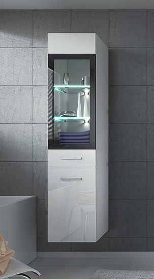 Cool Badezimmer Schrank Rio Cm Hochglanz Wei Fronten U Regal Schrank  Hochschrank Schrank Mbel With Hochschrank Hochglanz Wei