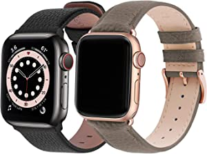 Fullmosa Compatible Apple Watch Band 44mm 42mm Leather Compatible iWatch Band/Strap Compatible Apple Watch SE & Series 6 5 4 3 2 1
