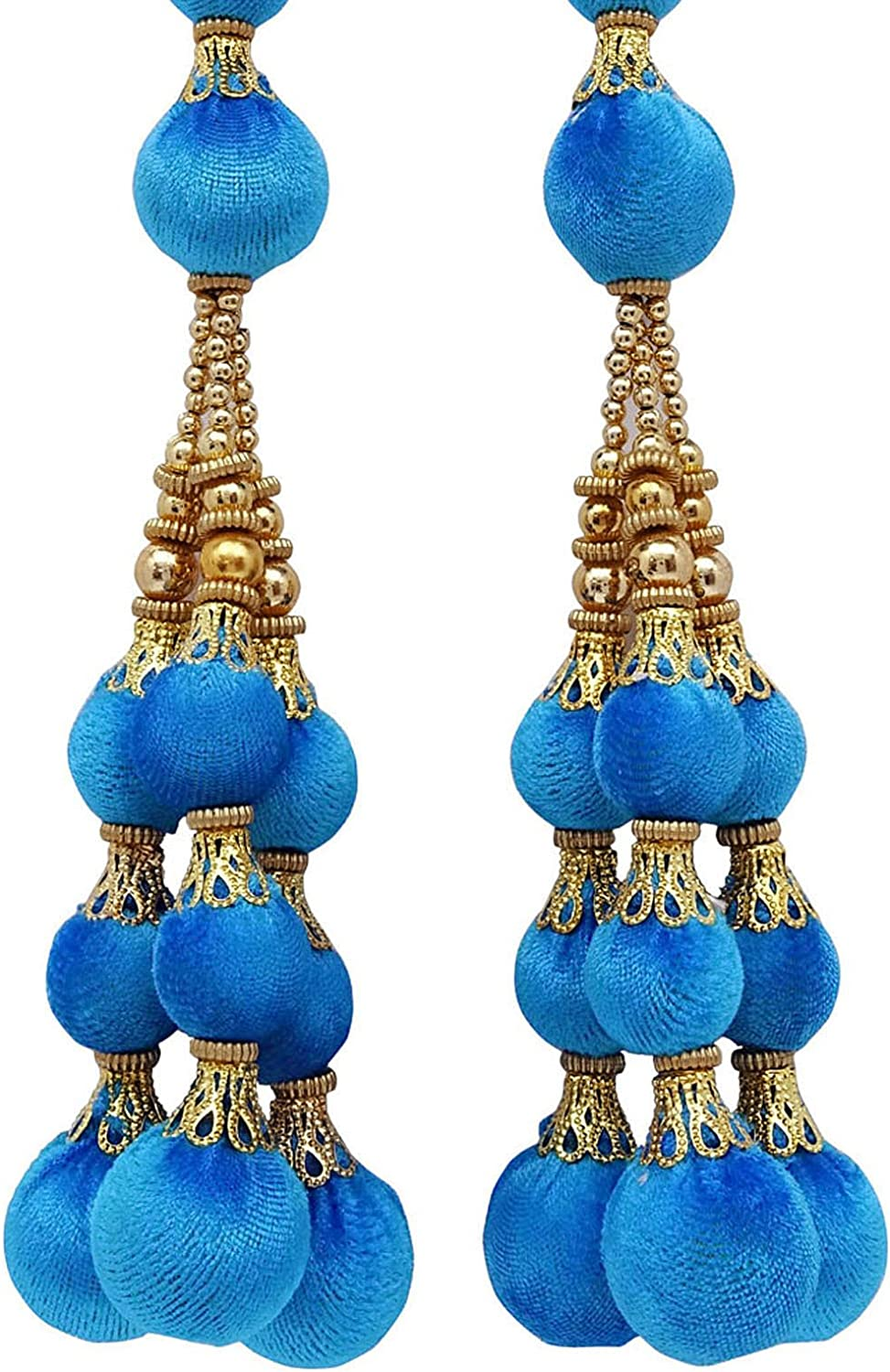 Blouse Latkans Indian Decorative Accessory Beaded Tassels Craft Sewing 1 Pair