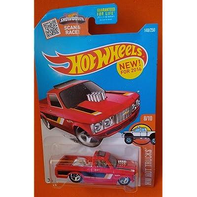 Hot Wheels 2016 HW Hot Trucks Custom '72 Chevy Luv 148/250, Red: Toys & Games