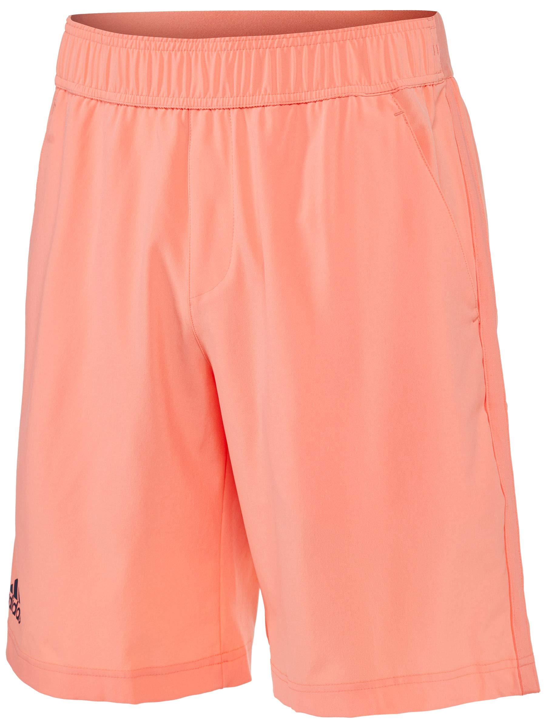 adidas Men's Essex Shorts Chalk Coral Medium 9.5