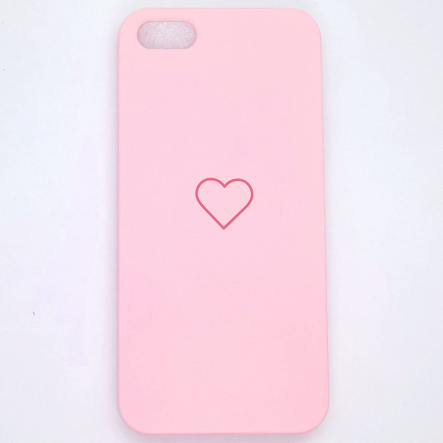 Apple iPhone SE Case, iPhone 5s Case, iPhone 5 Luxury Cute Heart Shockproof Slim PC Phone Case Cover Skin for Apple iPhone SE 5s 5 (Pink, iPhone SE 5s 5)