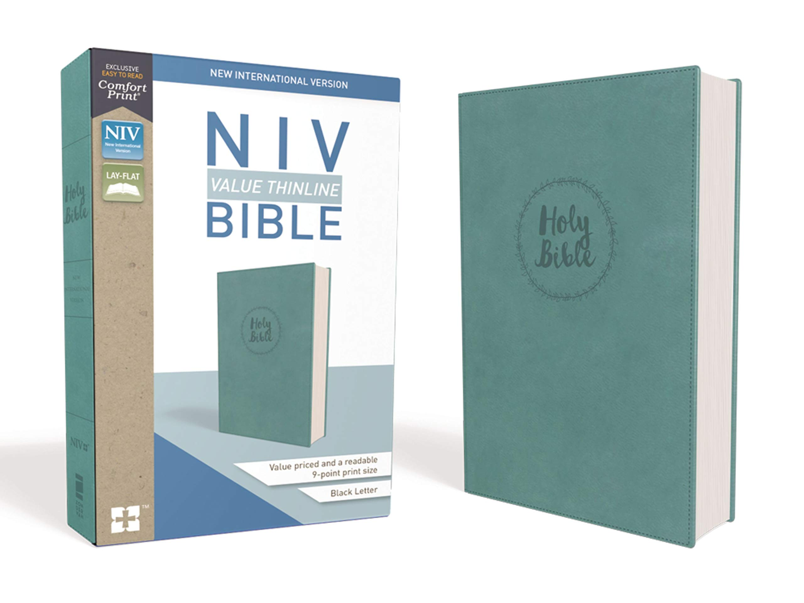 NIV, Value Thinline Bible, Leathersoft, Teal, Comfort Print