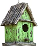 """Harmony Fountains The Little Green House 9"""" Cottage Birdhouse -Stylish Functional Bird House. HF-G11 by"""