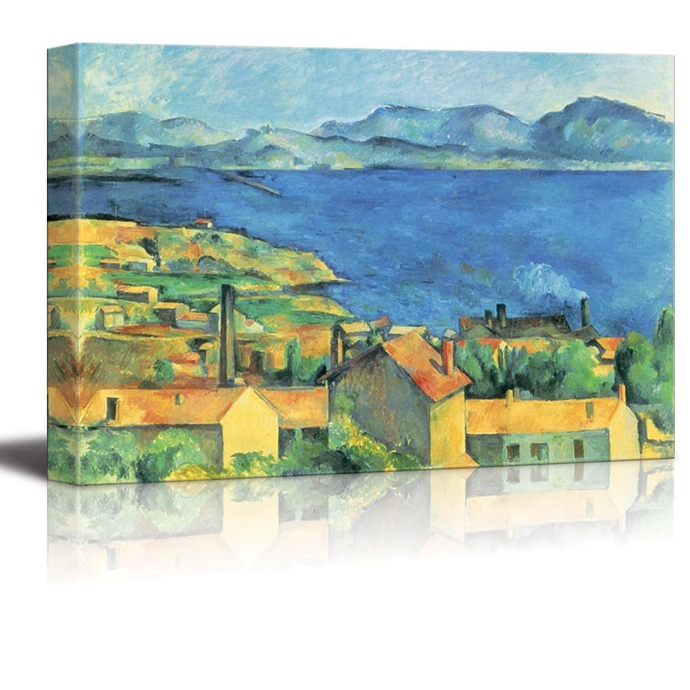 bay of marseille view from l 39 estaque by paul cezanne print famous painting reproduction canvas. Black Bedroom Furniture Sets. Home Design Ideas