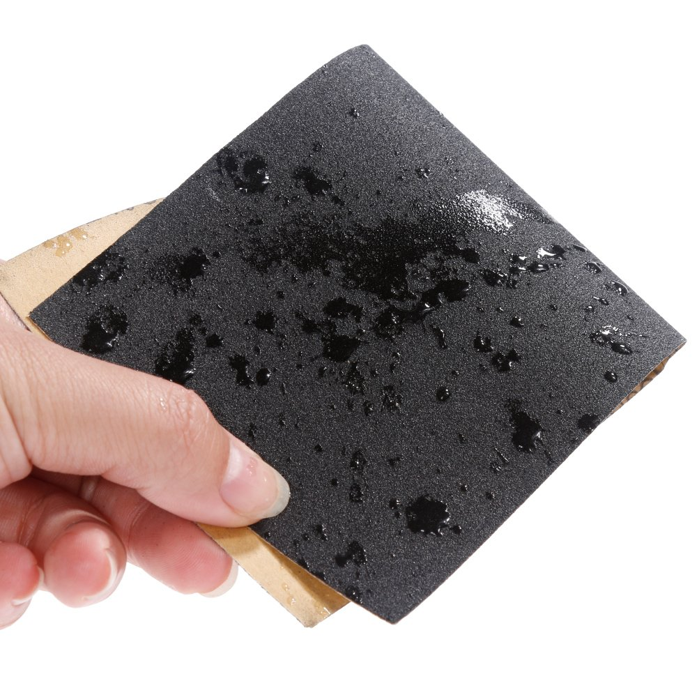 Faburo 36pcs Sandpaper Wet and Dry Sandpaper Mixed with Grits 150 to 2000