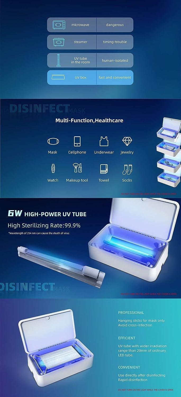 St/érilisateur uv portable pour t/él/éphone,uv st/érilisateur d/ésinfection,bo/îte de st/érilisation uv sterilizer box pour t/él/éphone,joaillerie