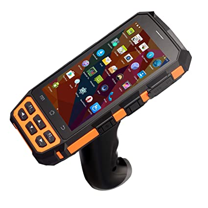BQ-7100 Android Handheld Terminal Support Verizon 4G 1D Honeywell Barcode  Scanner with Pistol Grip 8100mAH Battery,API Avaliable for Inventory