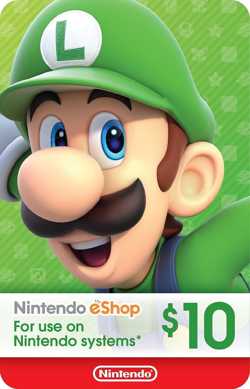 Amazon Com 10 Nintendo Eshop Gift Card Digital Code Video Games