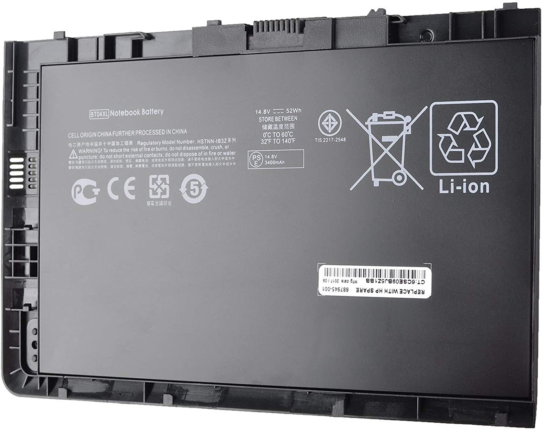BT04XL Laptop Battery Compatible with HP EliteBook Folio 9470 9470M Series HSTNN-IB3Z HSTNN-I10C BT04 BA06 687517-1C1, 52Wh 14.8V