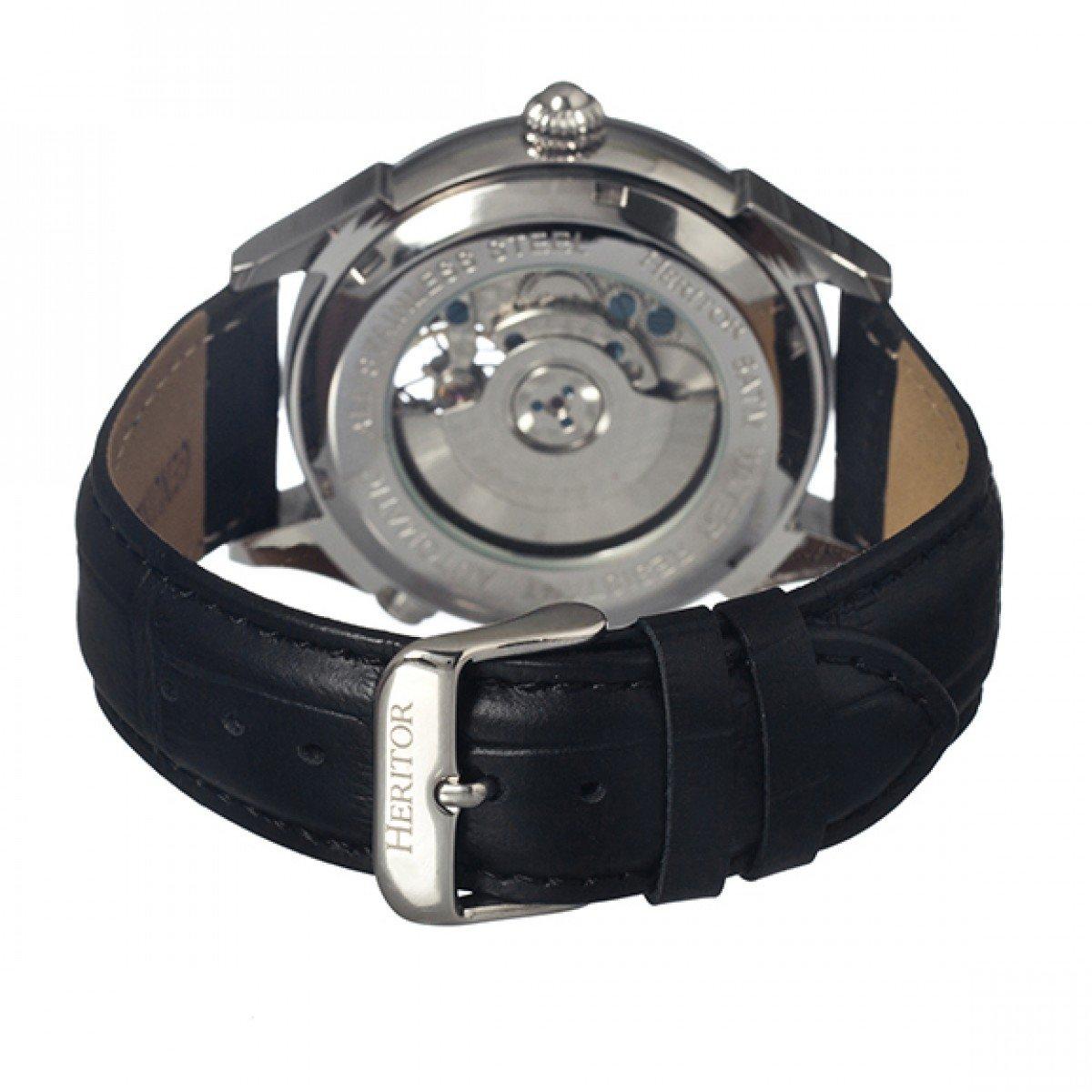 heritor automatic HERHR1201 - Reloj, correa de cuero color negro: Amazon.es: Relojes