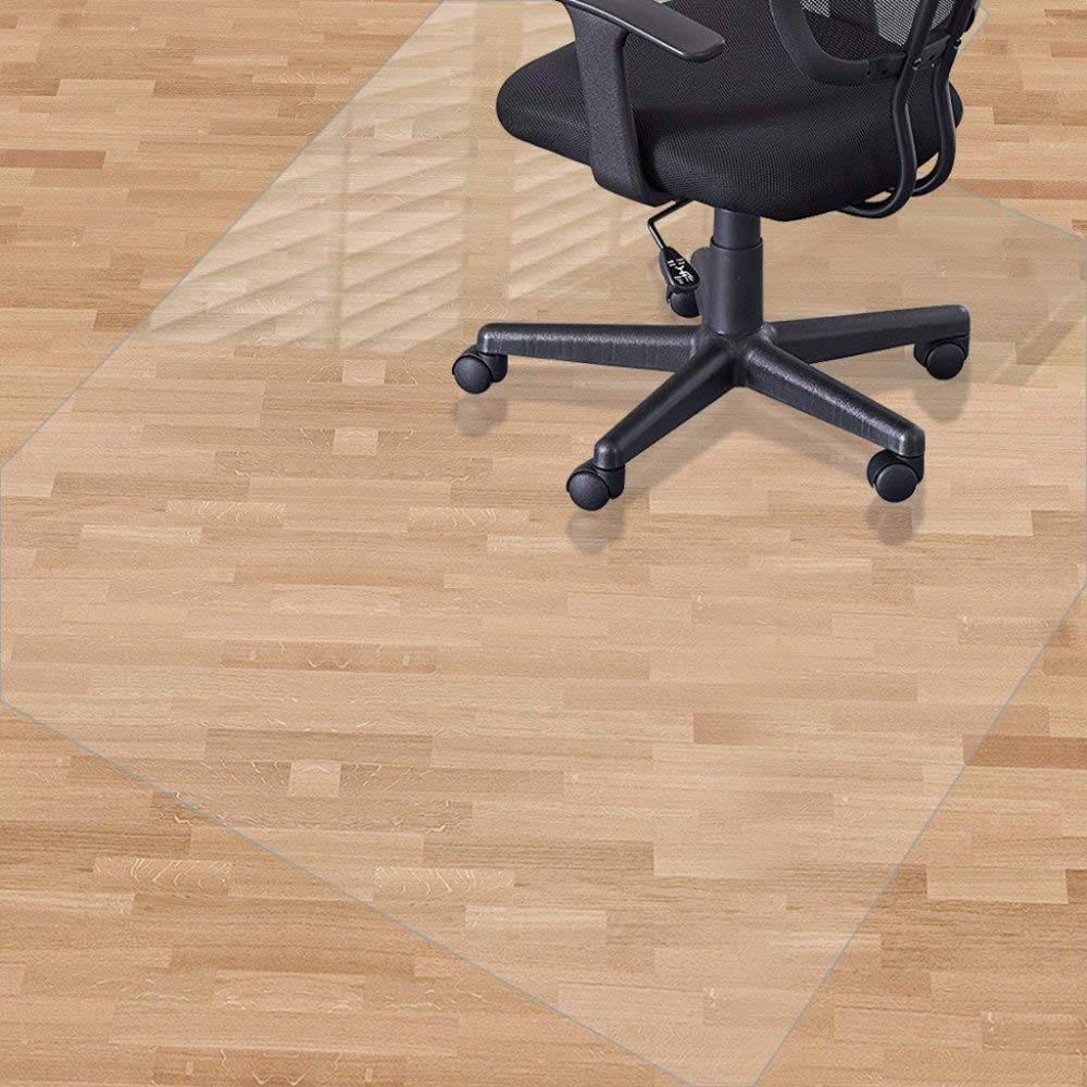 Office Chair Mat Clear Hard Floors Carpet Protection Rectangle PVC Protector Thicken,Thicken-180x180cm
