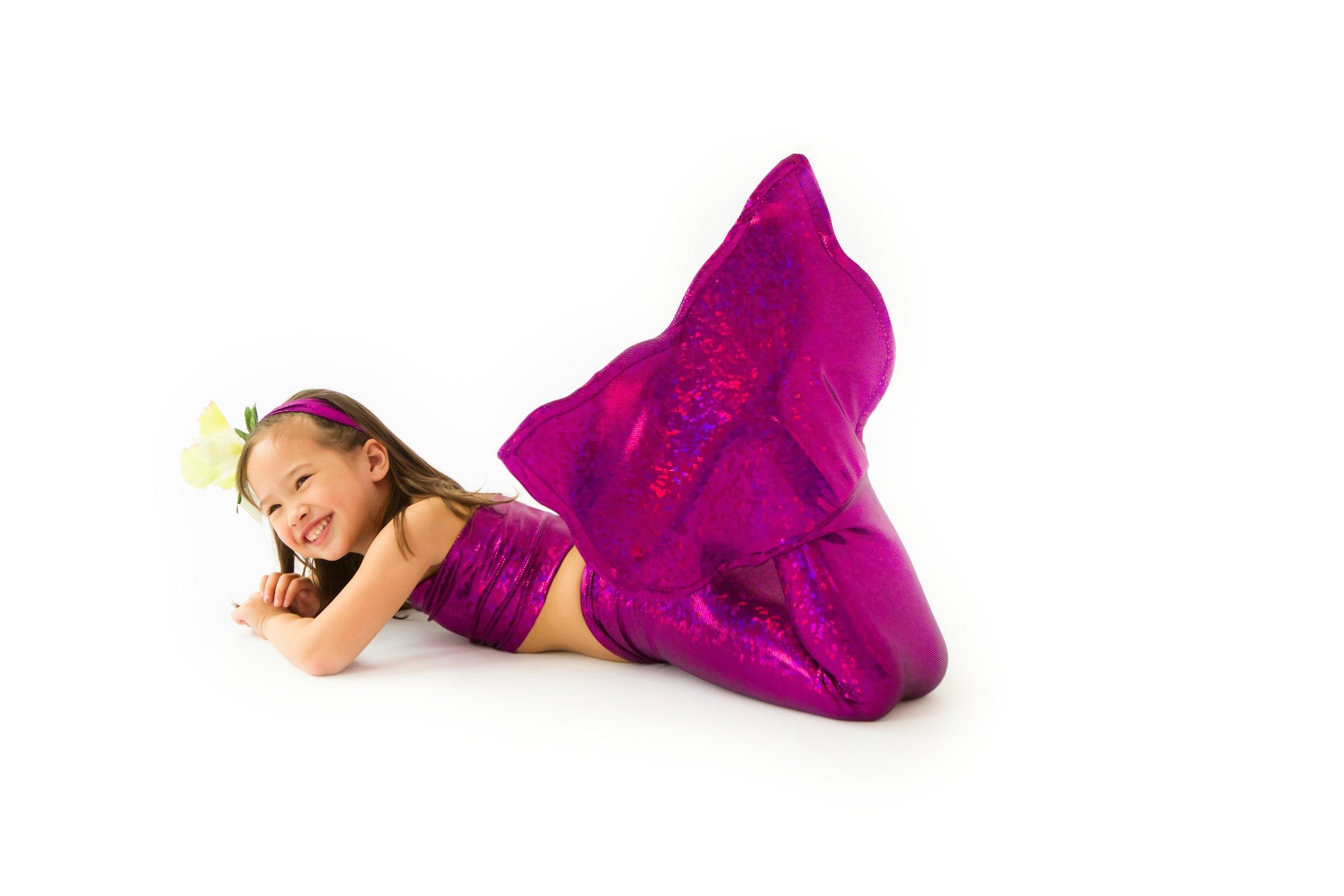 Sparkly Mermaid Tail By Applejack Apparel (Medium 5-7, Prettiest Pink)