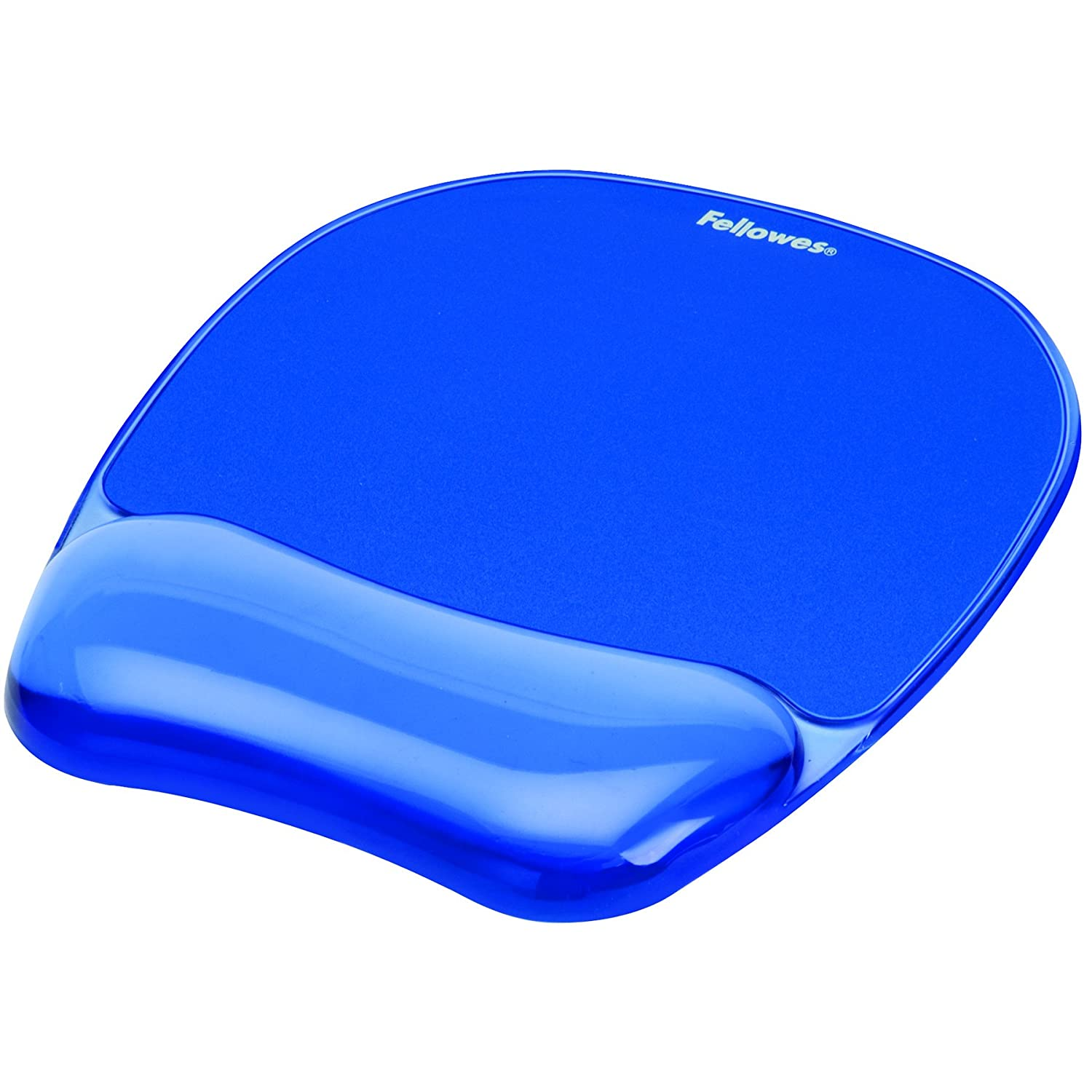 Fellowes 91141 Gel Crystal Mousepad/Wrist Rest (Blue) Inc. 9114120