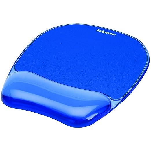 152 opinioni per Fellowes Tappetino per Mouse con poggiapolsi Crystal Gel, Blu