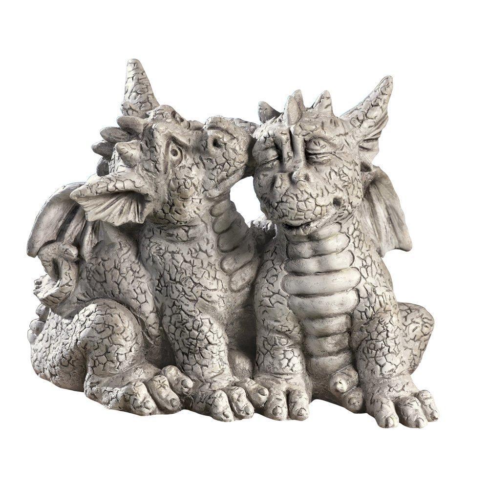 Dragon Couple Garden Statue