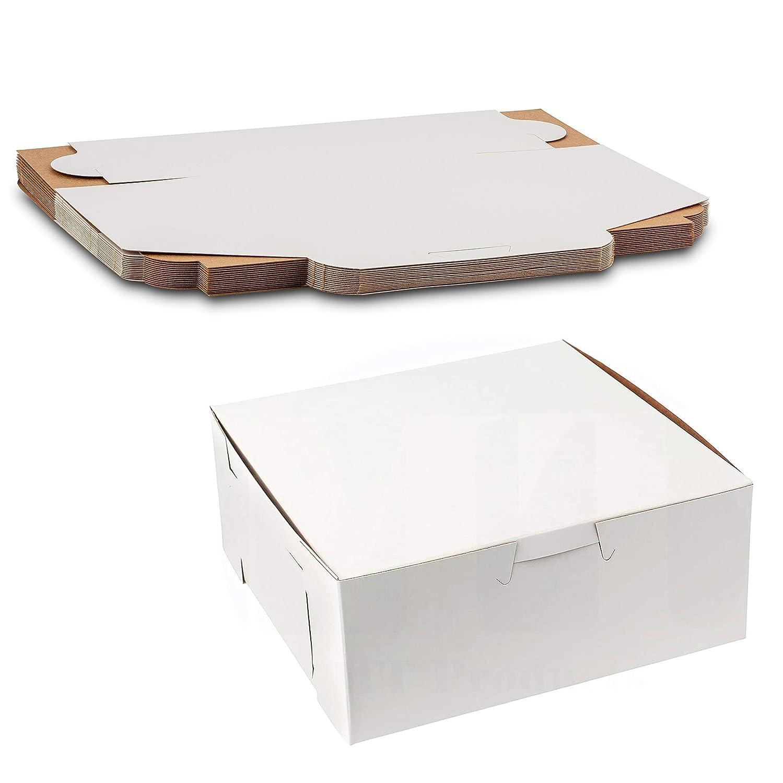 Beautiful White Lock Corner Clay Coated Kraft Paperboard Bakery Box No-Window Size 6