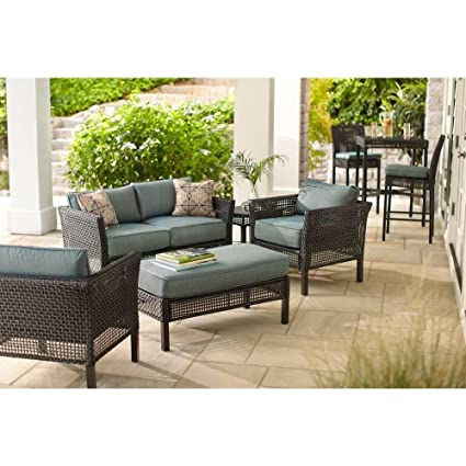 Merveilleux Hampton Bay Outdoor Patio Furniture Set | Fenton 4 Piece Patio Seating Set  With Peacock